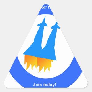 Space Rockets Triangle Sticker
