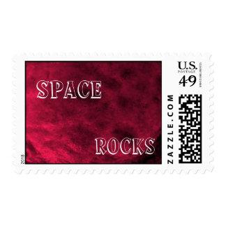 Space Rocks Postage Stamp