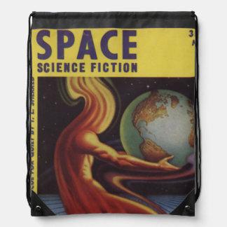 SPACE science fiction comic book comics bright fun Drawstring Bag