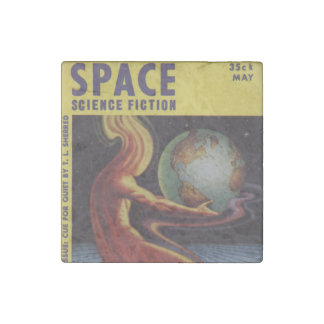 SPACE science fiction comic book comics bright fun Stone Magnet