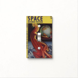 SPACE science fiction comic book comics bright fun Switch Plate Covers
