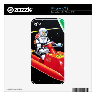 SPACE SCOOTER iPhone 4 DECAL