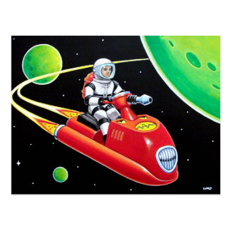 SPACE SCOOTER POSTCARD