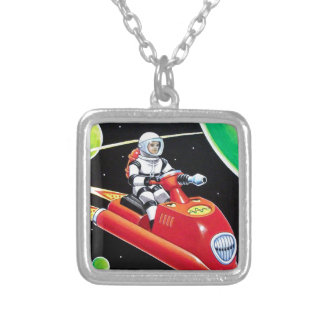 SPACE SCOOTER SILVER PLATED NECKLACE
