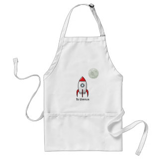 Space ship and Planet Adult Apron