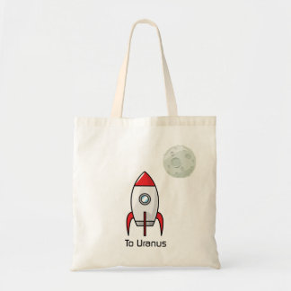 Space ship and Planet Tote Bag
