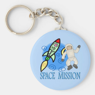 Space Ship Astronaut Mission Keychain