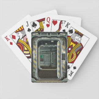 Space Ship Doorway Playing Cards