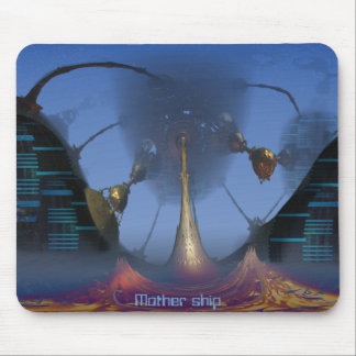 Space ship mouse pad