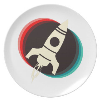 Space Ship Dinner Plates