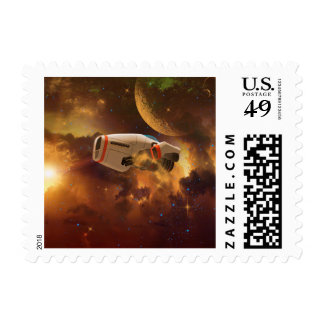 Space ship postage