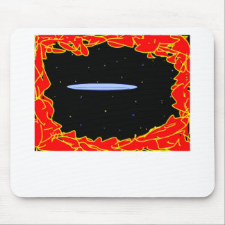 space ship re entering mouse pad