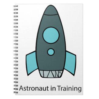 space ship rocket astronaut notebook