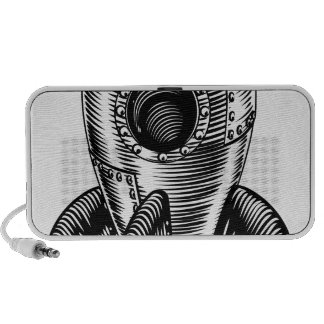 Space ship iPod speakers