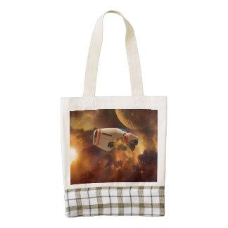 Space ship zazzle HEART tote bag