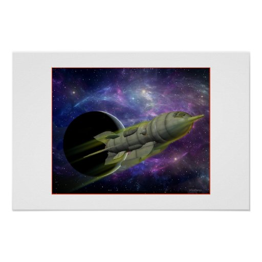 Space Ship Zip Poster