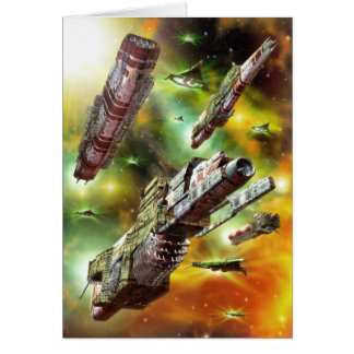 Space Ships Fantasy Greeting Card