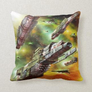Space Ships Fantasy Throw Pillow