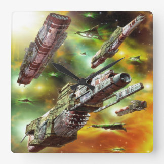 Space Ships Fantasy Wall Clock