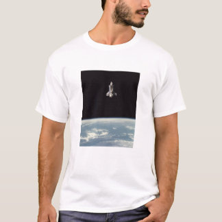 Space Shuttle Above Earth T-Shirt