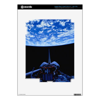 Space Shuttle and Earth Decals For iPad 3