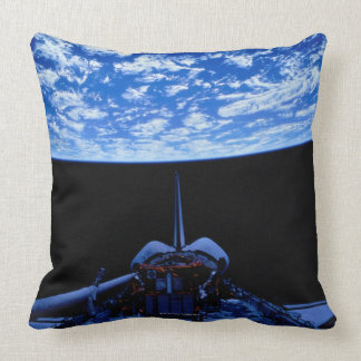 Space Shuttle and Earth Throw Pillow