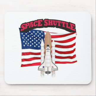 Space Shuttle and Flag Mouse Pad