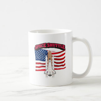 Space Shuttle and Flag Mug