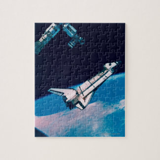 Space Shuttle and Station in Orbit Jigsaw Puzzle