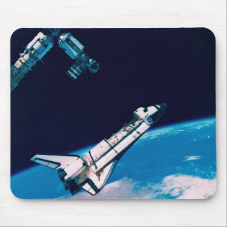Space Shuttle and Station in Orbit Mouse Pad