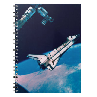 Space Shuttle and Station in Orbit Notebook