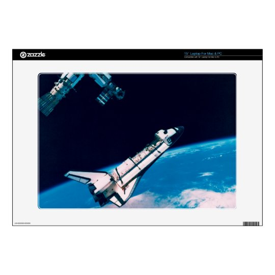 Space Shuttle and Station in Orbit Skin For Laptop