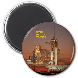 Space Shuttle Atlantis 2 Inch Round Magnet
