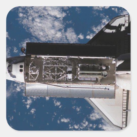Space Shuttle Atlantis 2 Square Sticker