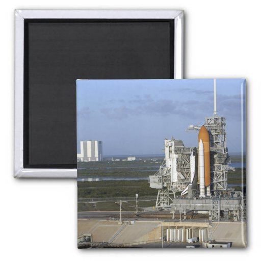 Space shuttle Atlantis 3 2 Inch Square Magnet