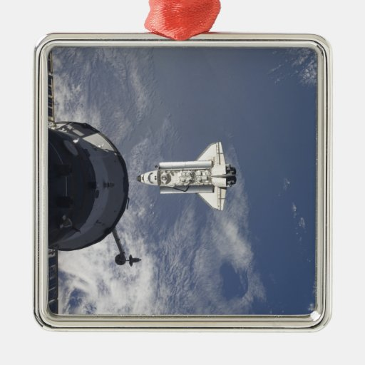 Space Shuttle Atlantis and a Russian spacecraft Christmas Ornament