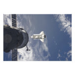Space Shuttle Atlantis and a Russian spacecraft Photographic Print