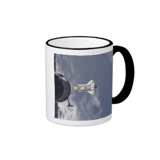 Space Shuttle Atlantis and a Russian spacecraft Ringer Mug