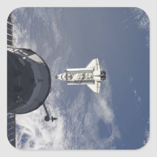 Space Shuttle Atlantis and a Russian spacecraft Stickers
