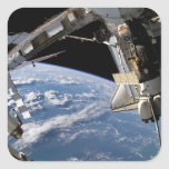Space Shuttle Atlantis and a Soyuz spacecraft Stickers