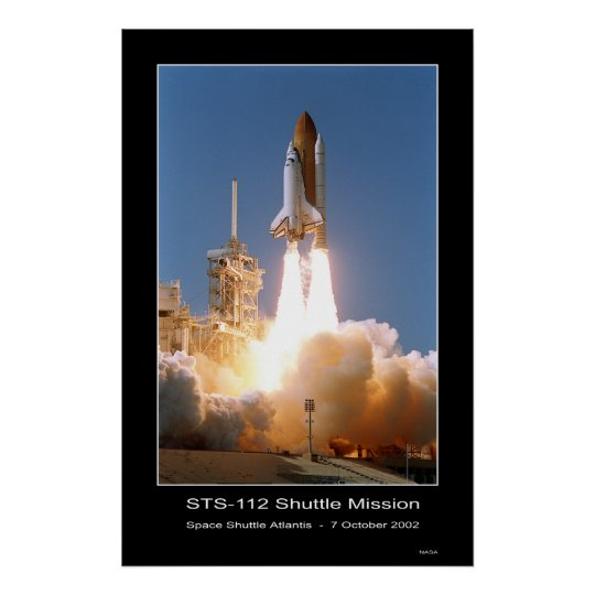 Space Shuttle Atlantis Blast-off – October 7, 2002 Poster