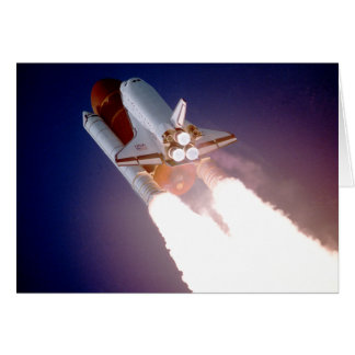 Space Shuttle Atlantis Blasts Off Card