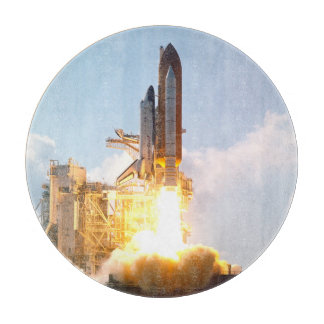Space Shuttle Atlantis Blasts Off Cutting Board
