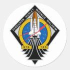 Space Shuttle Atlantis Classic Round Sticker