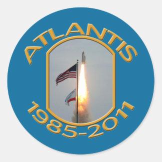 Space Shuttle Atlantis Final Lift Off Photo Classic Round Sticker