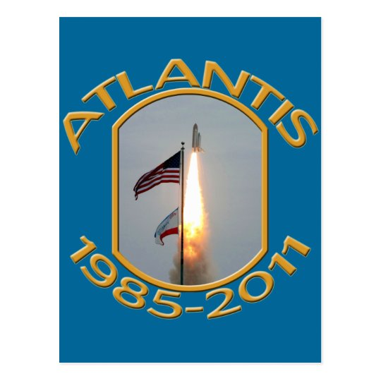 Space Shuttle Atlantis Final Lift Off Photo Postcard