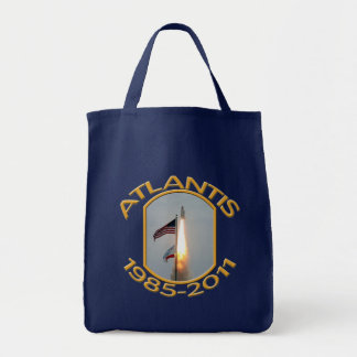 Space Shuttle Atlantis Final Lift Off Photo Tote Bag