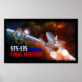 Space Shuttle Atlantis Final Mission Poster