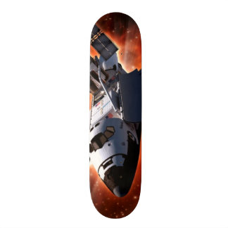 Space Shuttle Atlantis Hubble Telescope Artwork Skateboard Deck