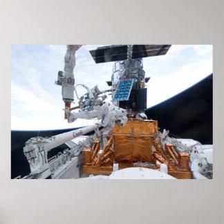 Space Shuttle Atlantis & Hubble Telescope Poster